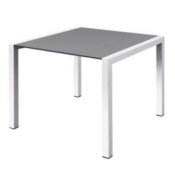 Mesa Rectangular Tablero Gris Interior-Exterior CLARO