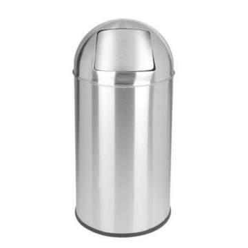 Papelera Push Inox Brillo 40 L